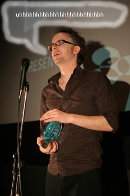 Berny_accepts_Audience_Choice_Award
