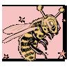 honey bee in space helmet